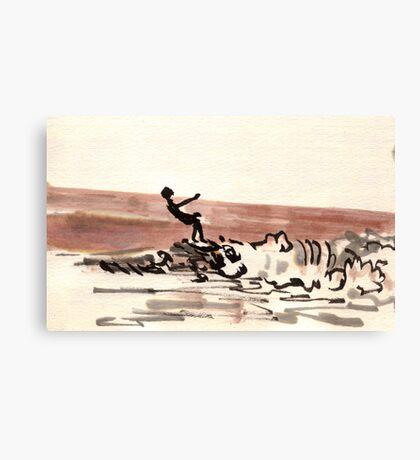 TLV - surfer Canvas Print