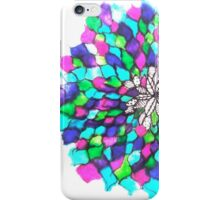 Stained glass effect Flower inked water Doodle iPhone Case/Skin