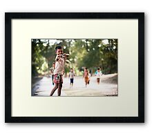 Cheeky Kid Framed Print