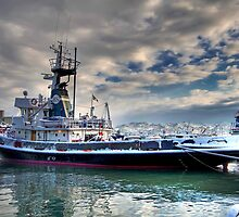 Tug and Snow by paolo1955