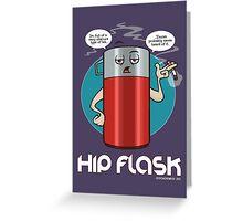 Hip Flask Greeting Card