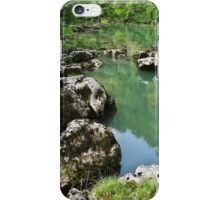 A green morning along the river iPhone Case/Skin