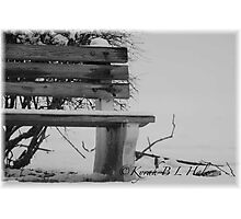 EMPTY BENCH Photographic Print