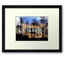 Sunset Sumi-e Framed Print
