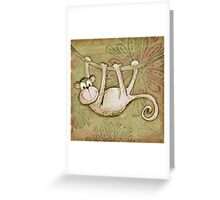 Monkey Time Card Greeting Card