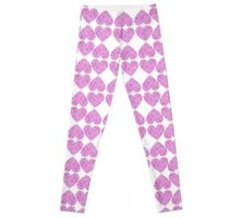 dotted pink hearts Leggings