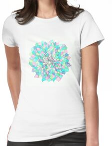 Pastel soft Flower doodle Womens Fitted T-Shirt