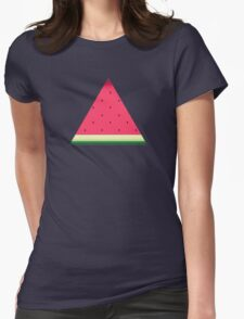 Watermelon // Graphic Fruit Pattern Womens Fitted T-Shirt
