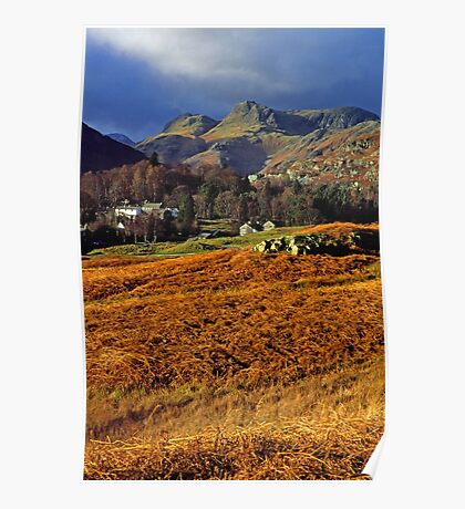 Langdale Pikes Lake District Poster