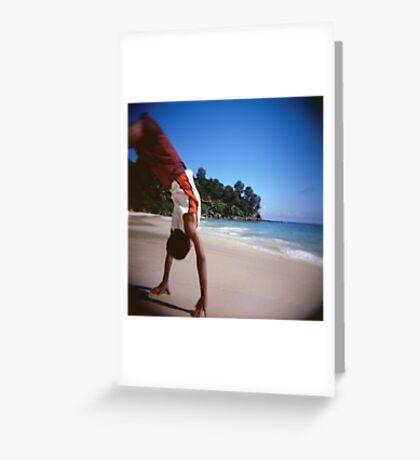 Somersaults On The Beach Greeting Card