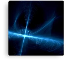 Abstract background in blue tones on black tone Canvas Print