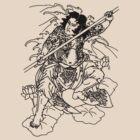 Japanese Warrior with Bo by kanjitee