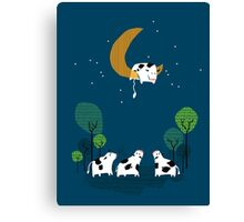 A Cow Jump over the moon Canvas Print