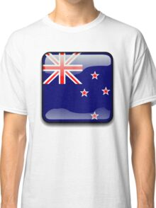 New Zealand Flag Icon Classic T-Shirt