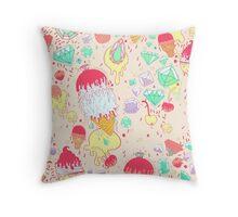Ice & Cream  Throw Pillow