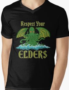 Respect Your Elders Mens V-Neck T-Shirt