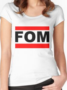 FOM White Women's Fitted Scoop T-Shirt