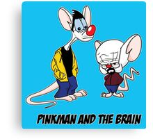 Pinkman and The Brain - Pinkman and Walter - Breaking Bad Parody - Pinky and the Brain Parody Canvas Print