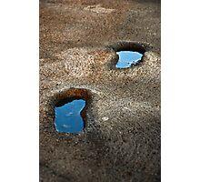 Footprints pools Photographic Print