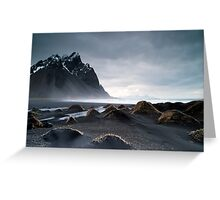 Vestrahorn Mountains Iceland Greeting Card