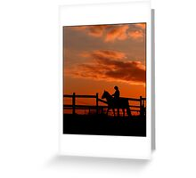 horse silhoette Greeting Card