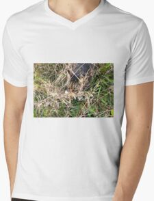 He Will Never See Me Here Mens V-Neck T-Shirt