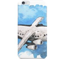 Crappy passenger plane with bad perspective iPhone Case/Skin