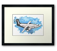 Crappy passenger plane with bad perspective Framed Print
