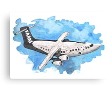 Crappy passenger plane with bad perspective Canvas Print