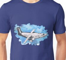 Crappy passenger plane with bad perspective Unisex T-Shirt