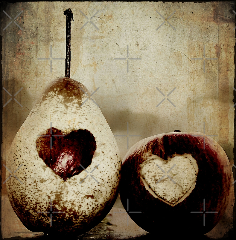 a pear in love by Ingz