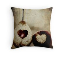 a pear in love Throw Pillow