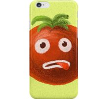 Green Funny Cartoon Tomato iPhone Case/Skin