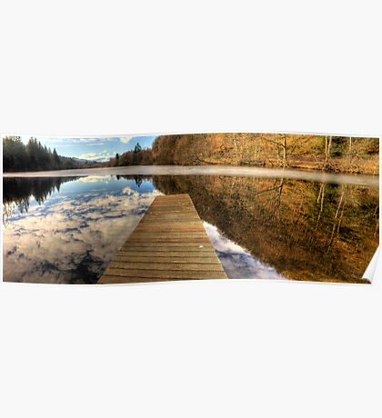 Loch Ard Jetty Panorama Poster