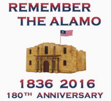 Battle of Alamo 1836 flying Texican Navy Flag 19thC. Kids Tee