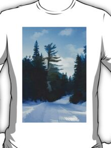 Winter Mood Impressions - Snowy Road in Algonquin T-Shirt