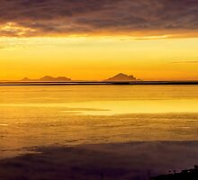 Westman Islands in the Sunset Iceland by Nick Jenkins