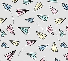 Paper Planes in Pastel by Tangerine-Tane