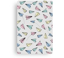 Paper Planes in Pastel Canvas Print