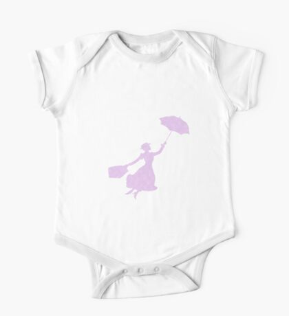 Fluffy clouds Miss Poppins  One Piece - Short Sleeve