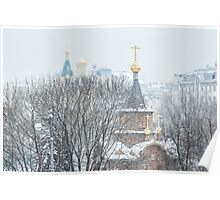 Chapel in the snow Poster
