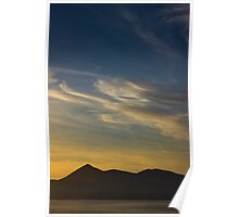 Outer Hebrides in sunset Poster