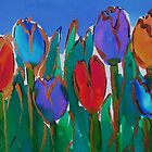 Tulips by Veena  Gupta