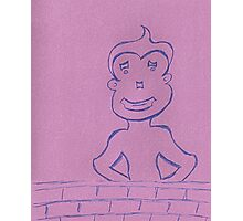Boy is Just Another Brick in the Wall Photographic Print