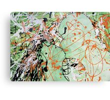 exciting kiss the blending of two. Canvas Print