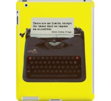 There are no Limits, Walter Bishop Quote iPad Case/Skin