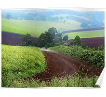 Farmland, Gembrook, Dandenong Ranges. Victoria Poster