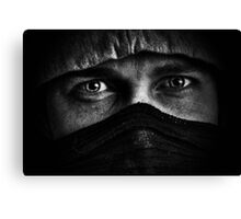 Mean man Canvas Print