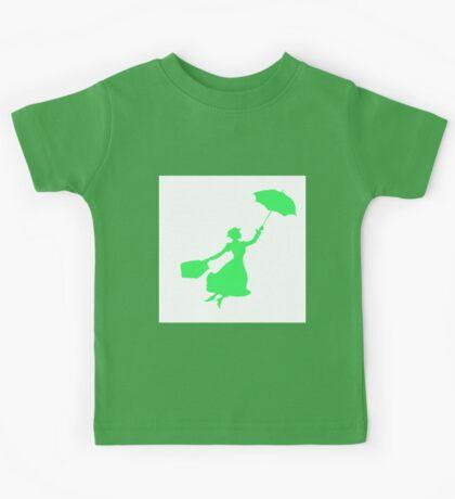 Green Miss Poppins  Kids Tee