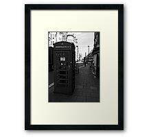 English Red Phone Box Framed Print